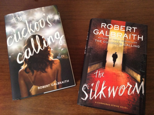 "The Cormoran Strike Series: ""The Cuckoo's Calling"" and ""The Silkworm."" Image Source: the blog A Reader's Thoughts."