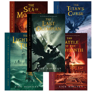 "The ""Percy Jackson and the Olympians Series."" Image Source: Bartlesville Public Library"